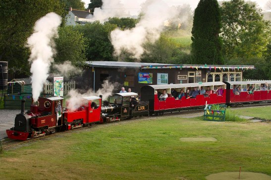 Photograph by Emily Whitfield-Wicks. Lappa Valley, a celebration of 40 years whilst revealing the train and its name Ruby.